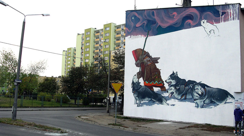 etam cru street art eskimo bydgoszcz poland 2011 Colossal Street Art by Sainer and Bezt