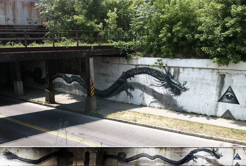 imperial blind rochester america 2011 Twisted Metal Street Art Murals by DALeast