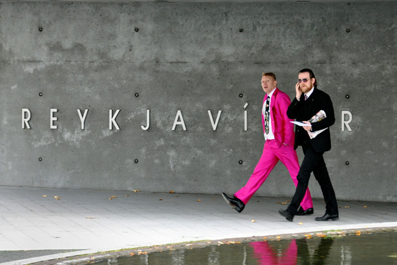 jon gnarr pink suit mayor of reykjavik iceland This is What Happens When a Billionaire Loses a Bet