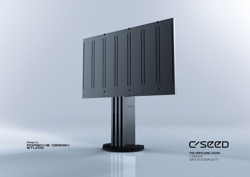 largest led tv in the world c seed porsche 1 The Worlds Largest, Fully Retractable LED TV