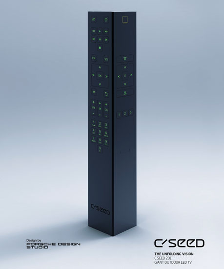 largest led tv in the world c seed porsche remote The Worlds Largest, Fully Retractable LED TV
