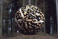 Colossal Wooden Spheres Made from Interlocking Wood
