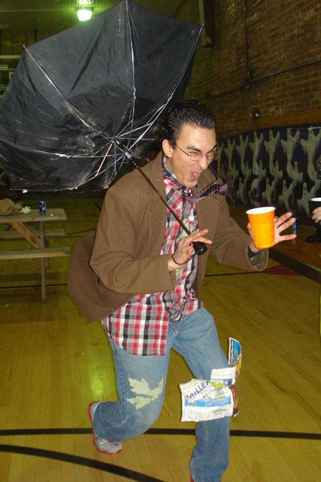 man walking through hurricane halloween costume 25 Hilarious Halloween Costumes from the Weekend