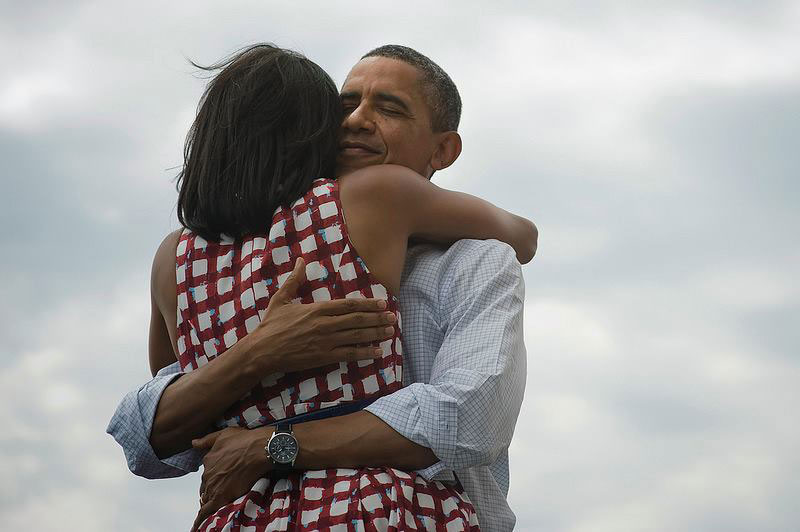 most liked and retweeted photo ever barack obama hugging wife michelle The Most Liked and Retweeted Photo in History