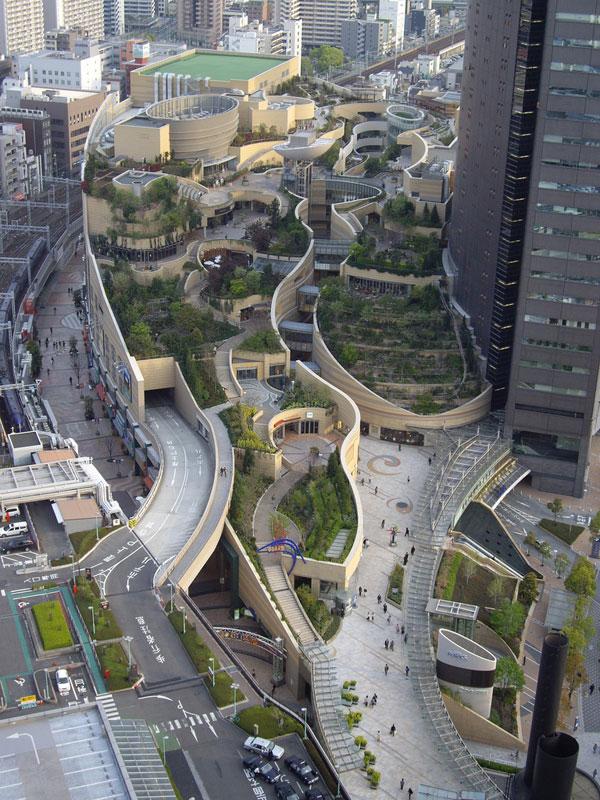 namba parks rooftop garden osaka japan jon jerde 5 The 8 Level Rooftop Park in Osaka, Japan