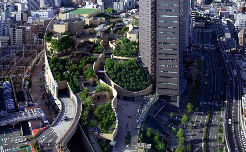 namba parks rooftop garden osaka japan jon jerde 6 The Outdoor Living Garden Table