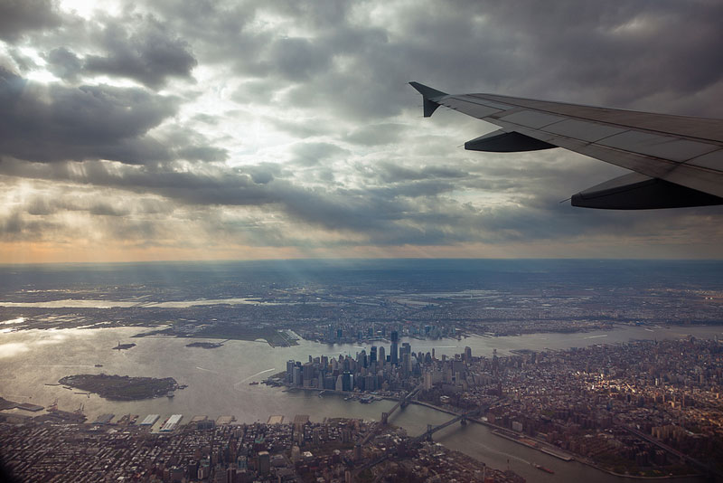 new york city aerial from airplane window Seeing the World Through an Airplane Window