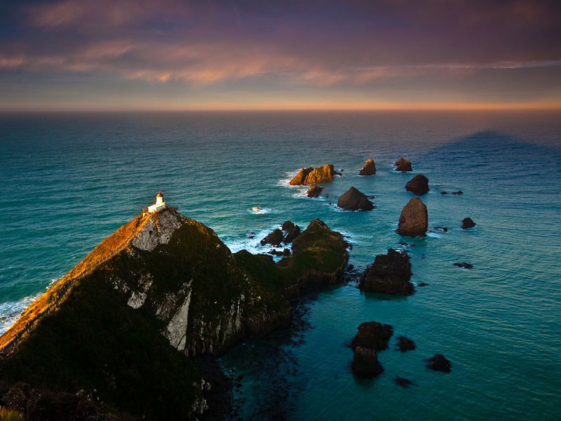 nugget point lighthouse new zealand aerial The Top 100 Pictures of the Day for 2012