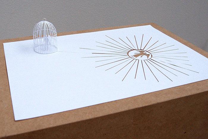 papercraft art from one sheet of paper peter callesen 1 20 Sculptures Cut from a Single Piece of Paper