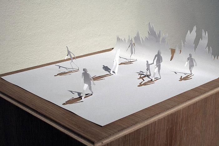 papercraft art from one sheet of paper peter callesen 13 20 Sculptures Cut from a Single Piece of Paper