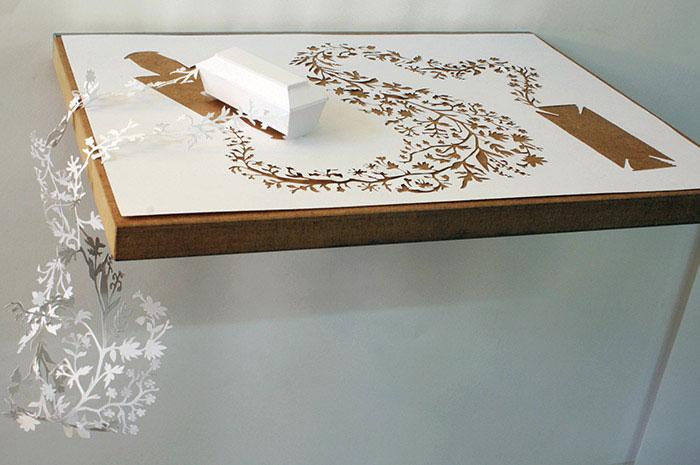 papercraft art from one sheet of paper peter callesen 3 20 Sculptures Cut from a Single Piece of Paper