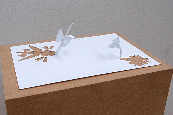 papercraft art from one sheet of paper peter callesen 4 20 Sculptures Cut from a Single Piece of Paper
