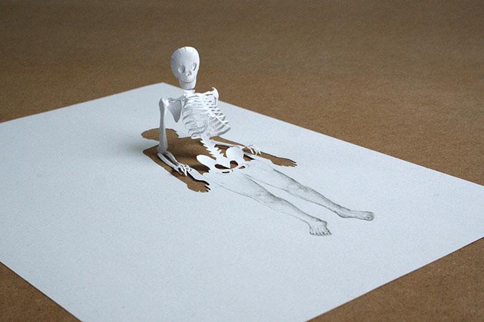 papercraft art from one sheet of paper peter callesen 6 20 Sculptures Cut from a Single Piece of Paper