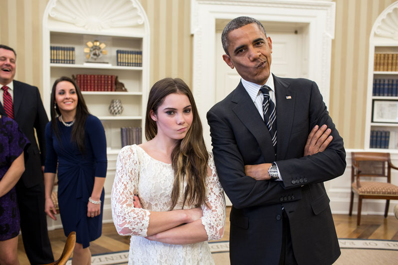 president barack obama and mckayla maroney not impressed Picture of the Day: The POTUS is not Impressed