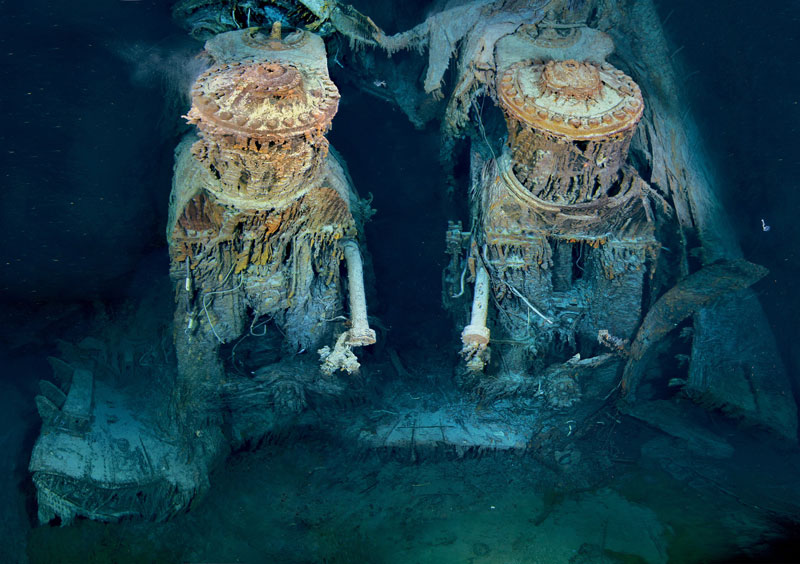 rms titanic engine under water bottom of ocean The Top 100 Pictures of the Day for 2012