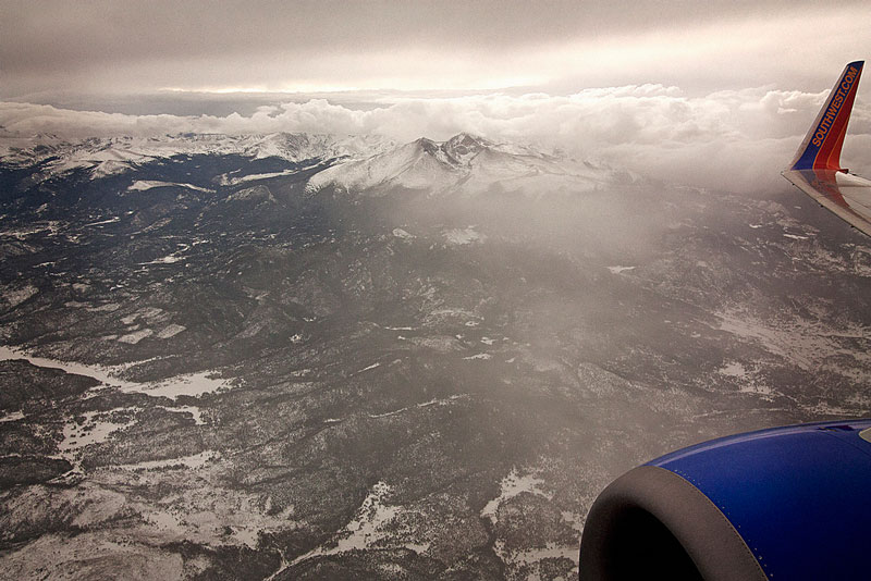 rocky mountains aerial from an airplane window Seeing the World Through an Airplane Window