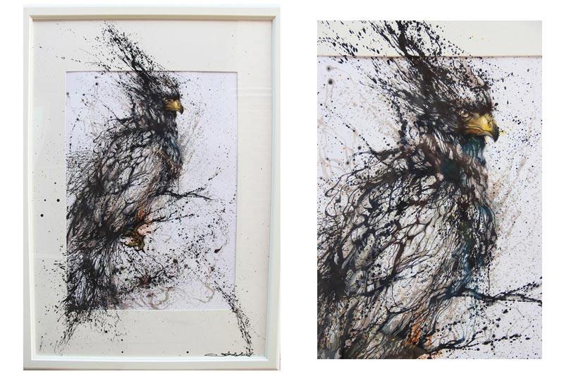 Splatter Portraits by Hua Tunan
