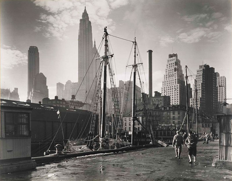 vintage new york city 1935 manhattan skyline fulton street dock pier 17 The Top 100 Pictures of the Day for 2012
