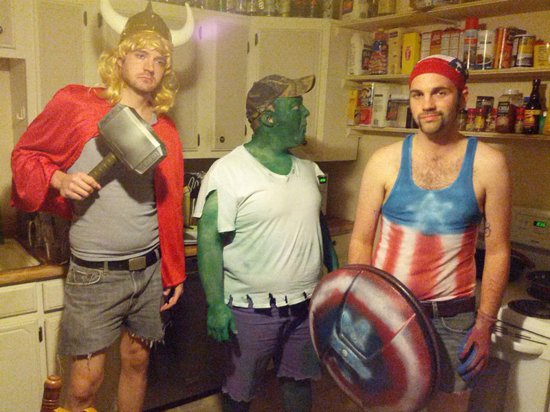 white trash superheroes The 40 Best Halloween Costumes of 2012