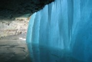 Picture of the Day: Behind a Frozen Waterfall