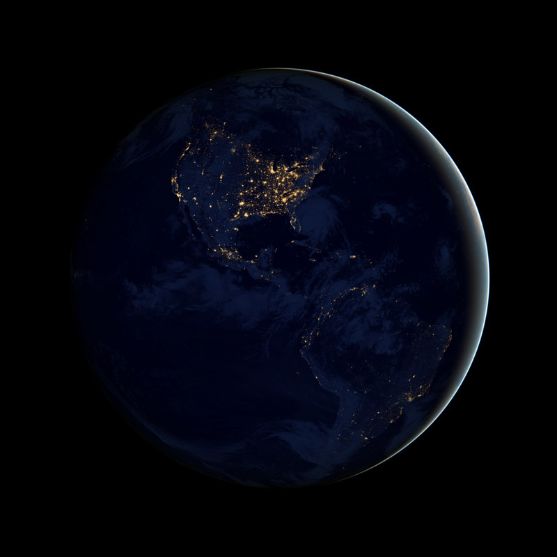 black dark marble nasa earth at night 1 ISS Cupola: The Window to the World
