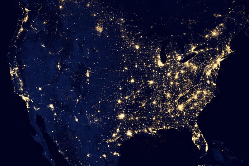 black dark marble nasa earth at night (2)