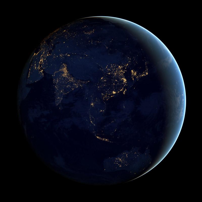 black dark marble nasa earth at night (4)