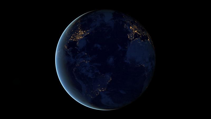 black dark marble nasa earth at night (5)