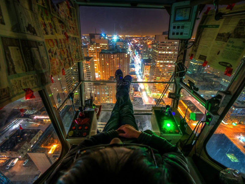 Picture of the Day: The Crane Operator's View
