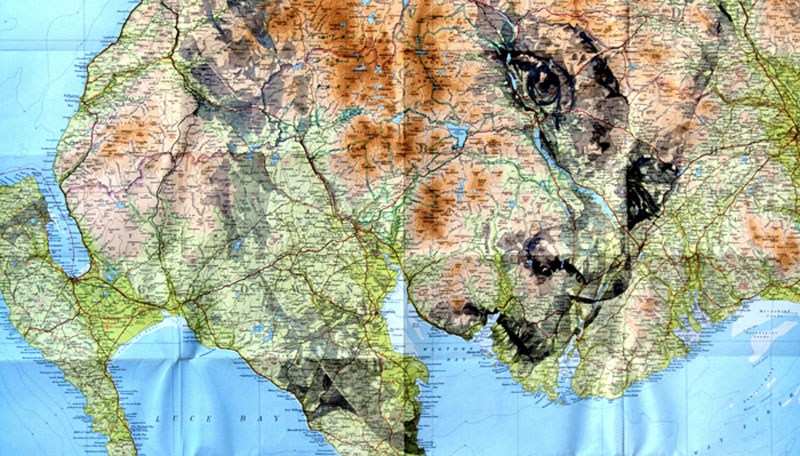 faces drawn onto maps by ed fairburn (5)