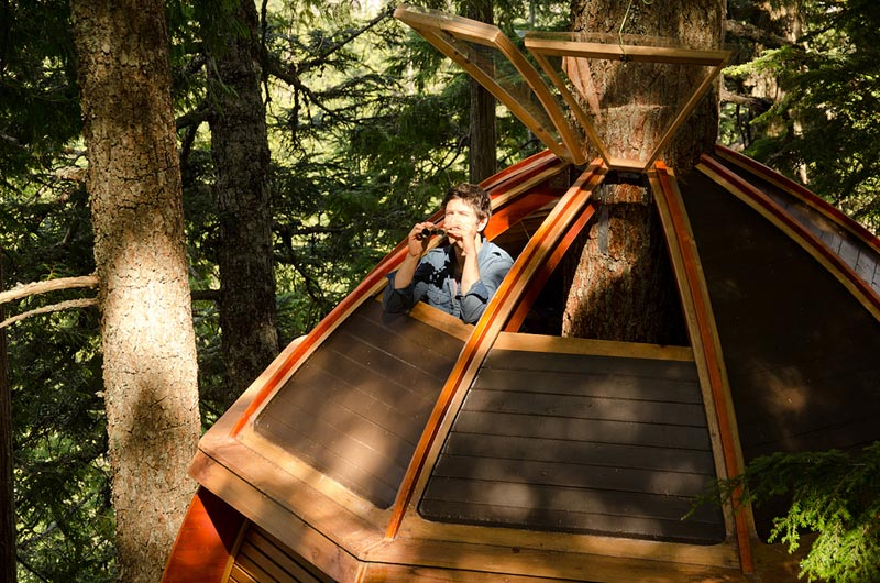 HemLoft secret treehouse hiding in the woods of whistler canada (13)