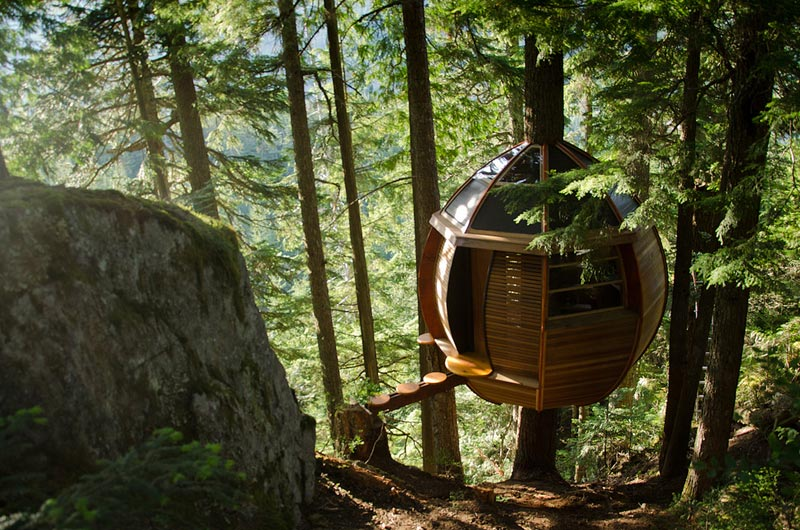 The HemLoft: A Secret Tree House in the Woods