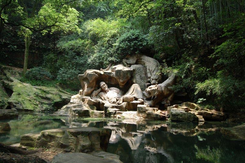 hupao spring hangzhou china dreaming of the tiger sculpture Picture of the Day: Dreaming of the Tiger