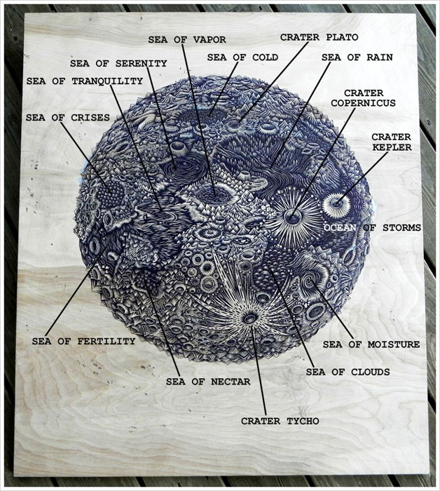 moon carved into wood paul roden valerie lueth tugboat print shop (2)