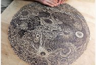 A Giant Moon Carved Into Wood
