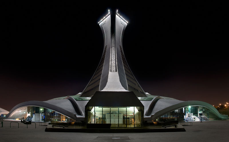 olympic stadium montreal quebec canada at night Picture of the Day: Montreals Olympic Stadium