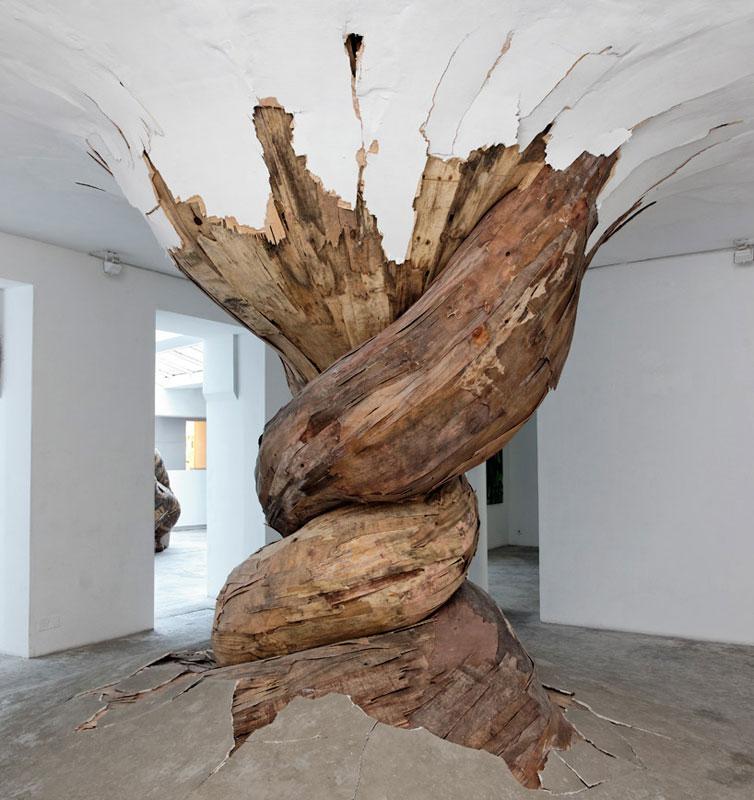 organic wood sculptures henrique oliveira photo aurelien mole