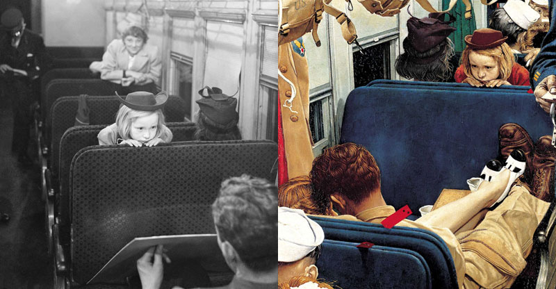 photographs of famous norman rockwell paintings (2)