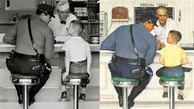 photographs of famous norman rockwell paintings (5)