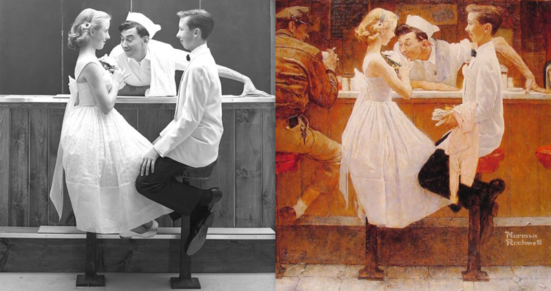 photographs of famous norman rockwell paintings (6)