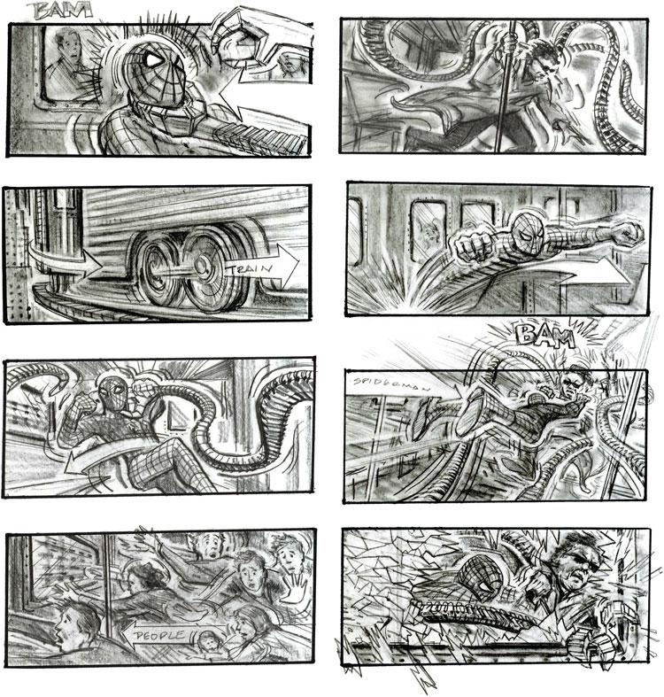 spiderman-2-storyboard-by-Chris-Buchinsky