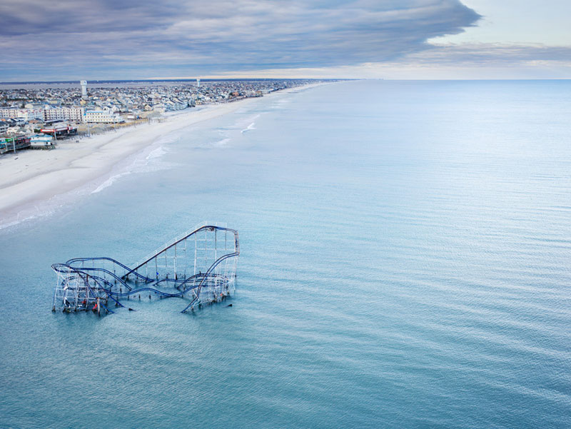 Picture of the Day: The Roller Coaster Submerged by Sandy