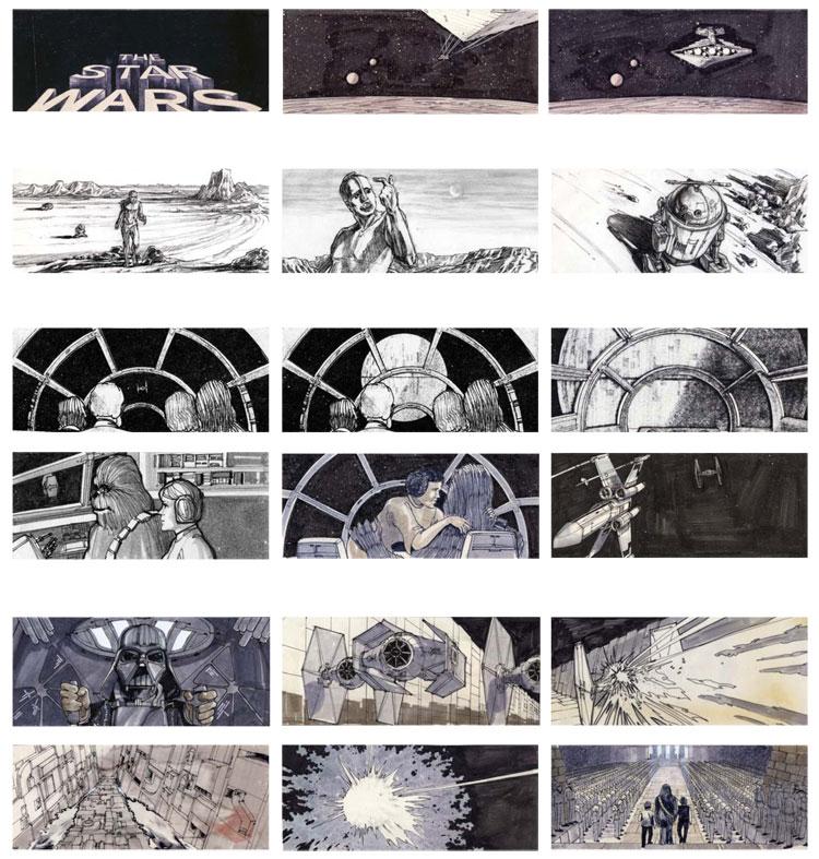 star wars storyboard Storyboards from Ten Popular Films