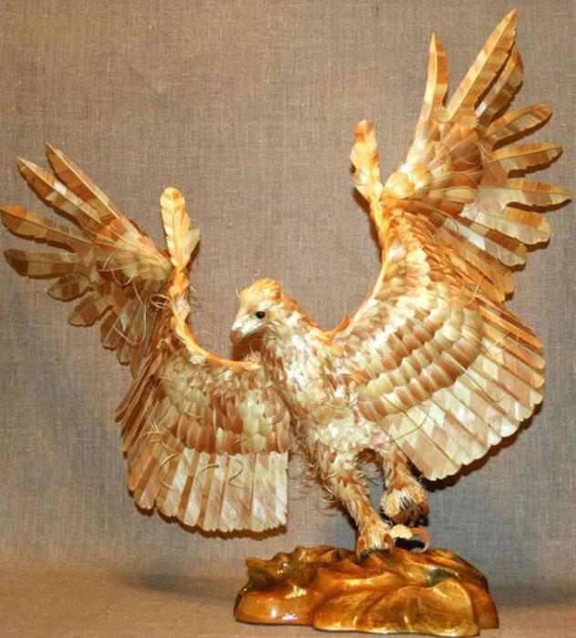 wood-chip animal sculptures by sergei bobkov (1)