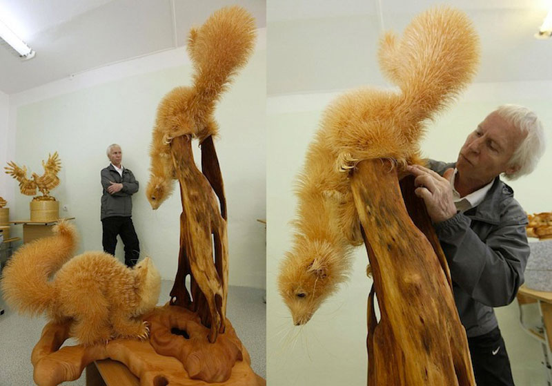 wood-chip animal sculptures by sergei bobkov (6)
