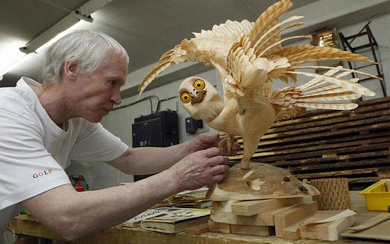 wood-chip animal sculptures by sergei bobkov (8)