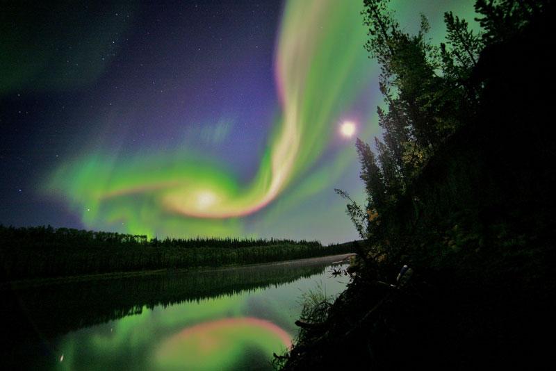 aurora borealis over whitehorse yukon canada Picture of the Day: Aurora Over Whitehorse