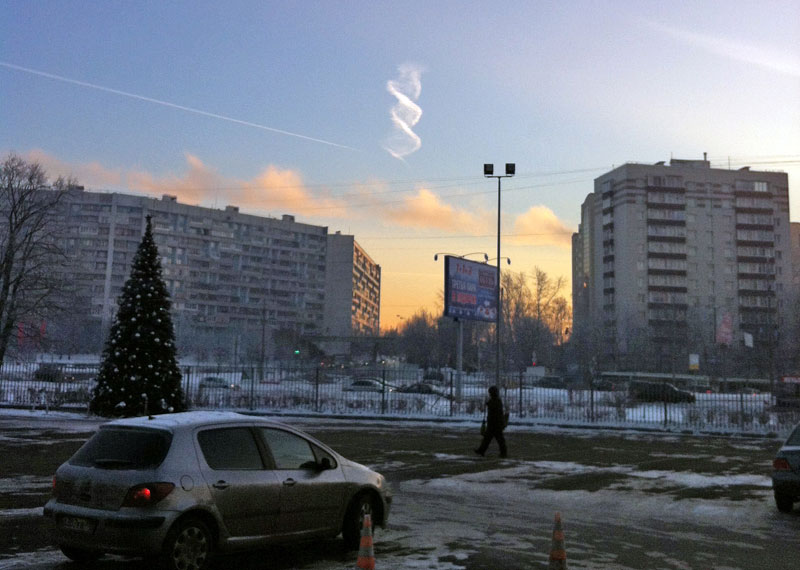 double helix cloud contrail spotted near moscow russia December-24-2012-donskoi92