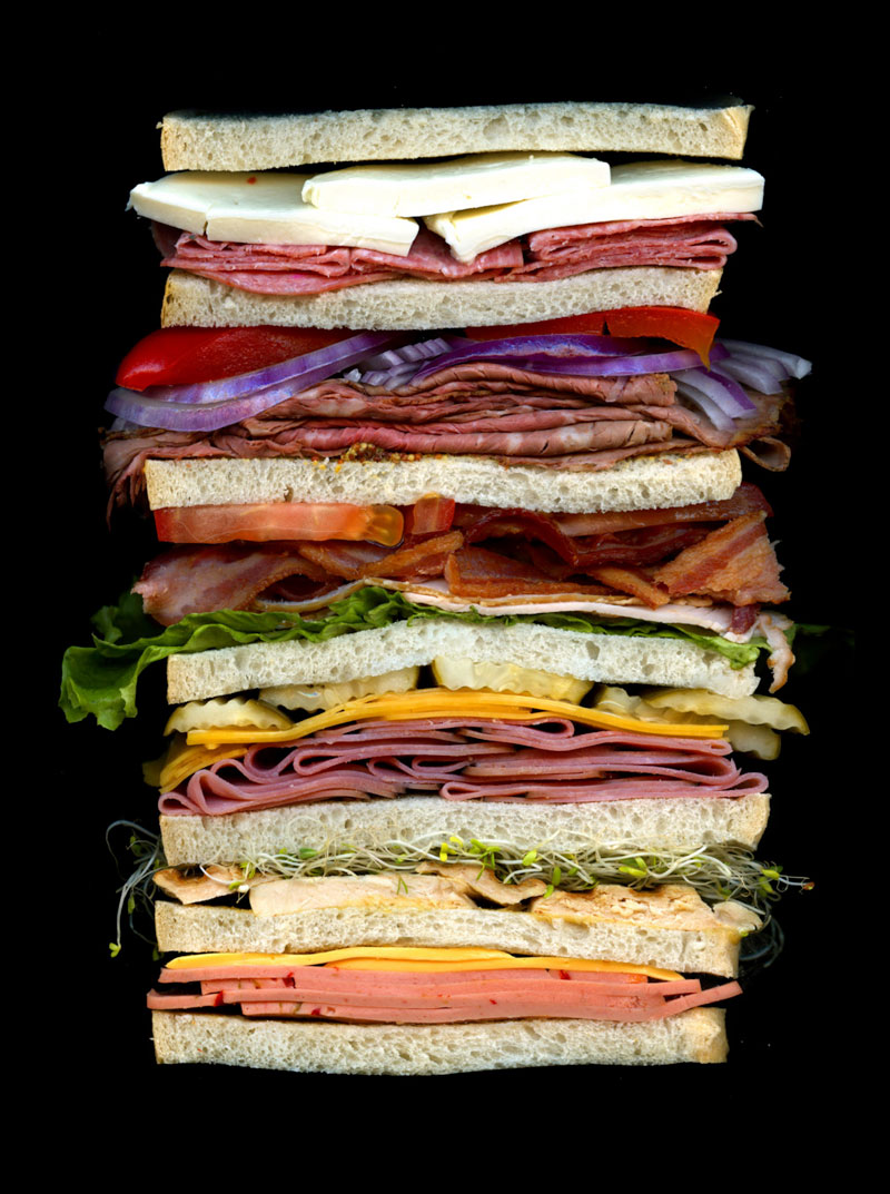 high quality sandwich scans by jon chonko scanwiches 3 Detailed Cross Sections of Ammunition