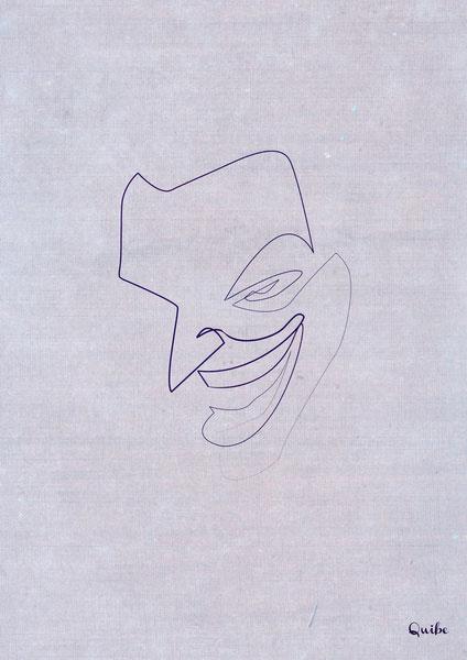 joker one line portrait by quibe